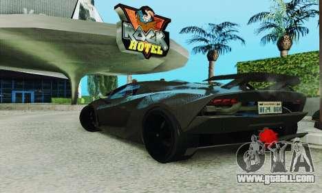 Lamborghini Sesto Elemento for GTA San Andreas inner view