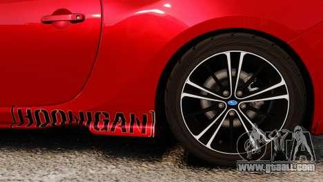 Subaru BRZ Rocket Bunny Aero Kit Hoonigan for GTA 4 back view