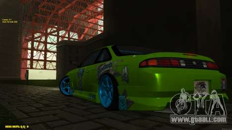 Nissan Silvia S14 CIAY for GTA San Andreas inner view