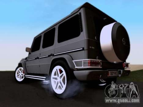 Mercedes-Benz G55 AMG for GTA San Andreas bottom view