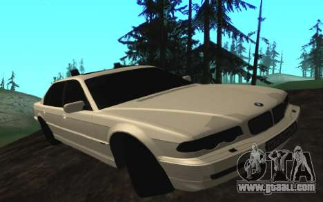 BMW 750iL E38 with flashing lights for GTA San Andreas left view
