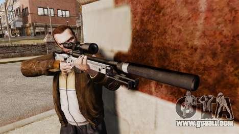 AW L115A1 sniper rifle with a silencer v6 for GTA 4 third screenshot