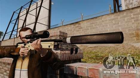 AW L115A1 sniper rifle with a silencer v2 for GTA 4 third screenshot