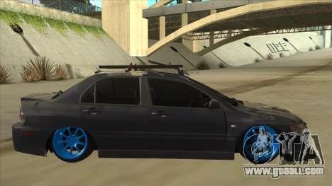 Mitsubishi Evo VIII MR JDM for GTA San Andreas back left view