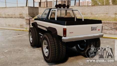 Monster Truck for GTA 4 back left view