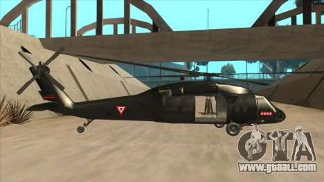 Sikorsky UH-60L Black Hawk Mexican Air Force for GTA San Andreas back left view