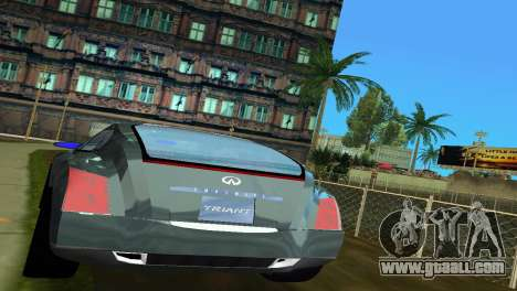 Infiniti Triant for GTA Vice City back view