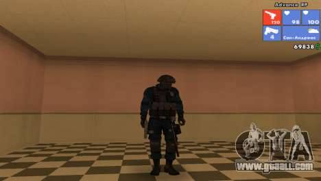 SWAT Skin for GTA San Andreas sixth screenshot