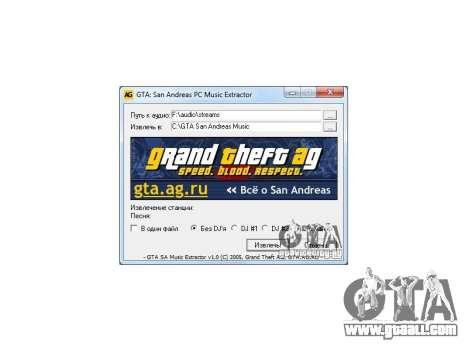 GTA San Andreas Radio Extractor v1.0 for GTA San Andreas