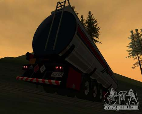 Semitrailer Container Xoomer for GTA San Andreas back left view