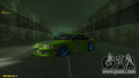 Nissan Silvia S14 CIAY for GTA San Andreas back left view