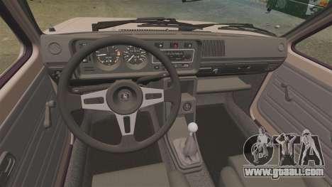 Volkswagen Golf MK1 GTI for GTA 4 back view