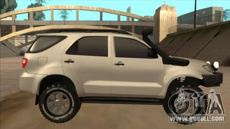 Toyota Fortunner 2012 Semi Off Road for GTA San Andreas back left view