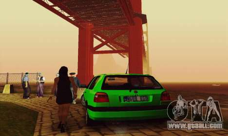 Volkswagen Golf Mk3 GTi 1997 for GTA San Andreas back view