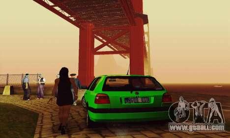 Volkswagen Golf Mk3 GTi 1997 for GTA San Andreas back view