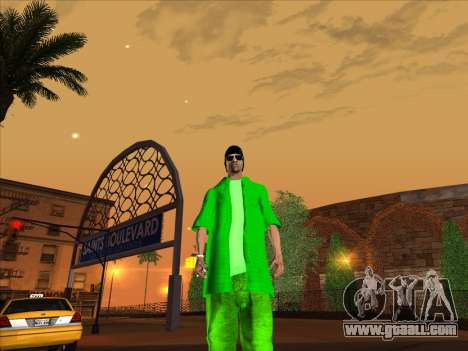 New skin Groove st. for GTA San Andreas fifth screenshot