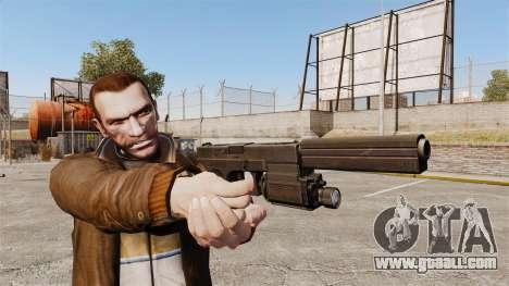 Tactical pistol Glock 18 v2 for GTA 4