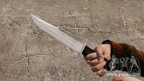 Knife The Alabama Slammer, chrome plated for GTA 4