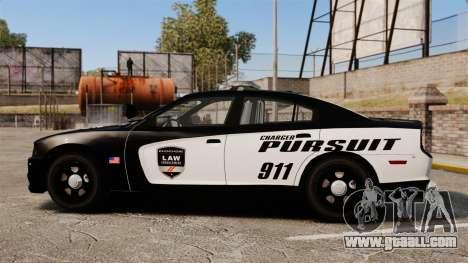 Dodge Charger Pursuit 2012 [ELS] for GTA 4 left view