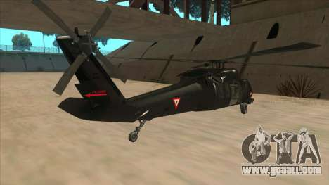 Sikorsky UH-60L Black Hawk Mexican Air Force for GTA San Andreas right view
