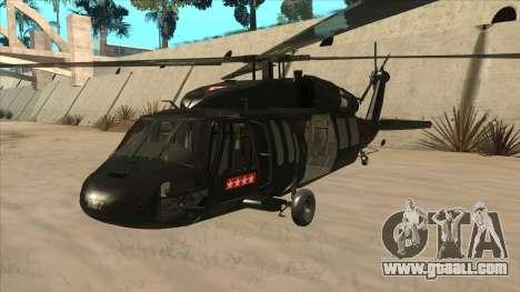 Sikorsky UH-60L Black Hawk Mexican Air Force for GTA San Andreas