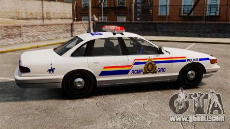 The Royal Canadian Mounted Police for GTA 4 left view