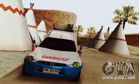 Chevrolet Combo Gasco for GTA San Andreas back left view
