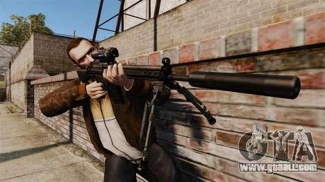 HK G3SG1 sniper rifle v1 for GTA 4 third screenshot