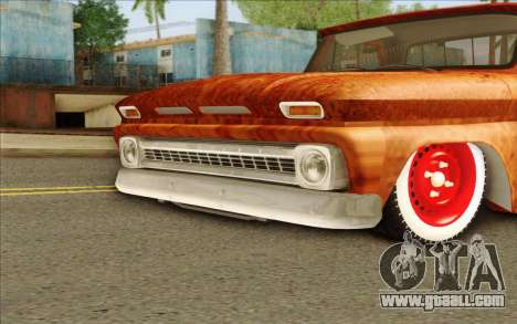 Chevrolet C10 Rat Style for GTA San Andreas back left view
