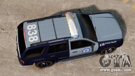 Chevrolet Trailblazer 2002 Massachusetts Police for GTA 4 right view