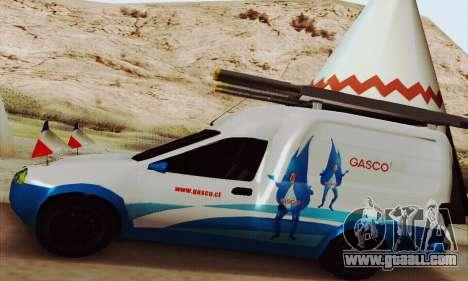 Chevrolet Combo Gasco for GTA San Andreas back view