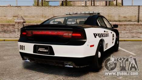 Dodge Charger Pursuit 2012 [ELS] for GTA 4 back left view