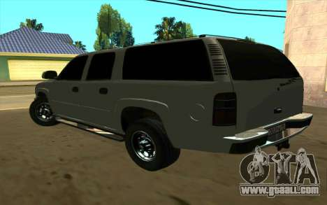 Chevrolet Suburban for GTA San Andreas back left view