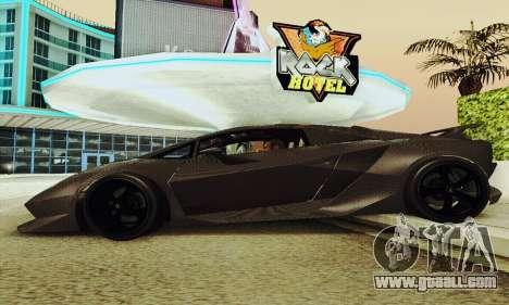 Lamborghini Sesto Elemento for GTA San Andreas upper view