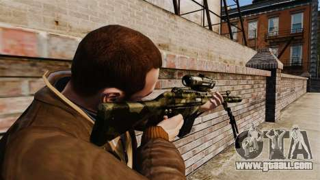 HK G3SG1 sniper rifle v2 for GTA 4 second screenshot