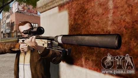 AW L115A1 sniper rifle with a silencer v9 for GTA 4 third screenshot