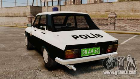 Renault 12 Classic 1980 Turkish Police for GTA 4 back left view