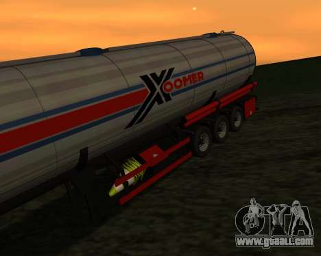 Semitrailer Container Xoomer for GTA San Andreas back view