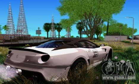 Ferrari 599xx for GTA San Andreas back left view