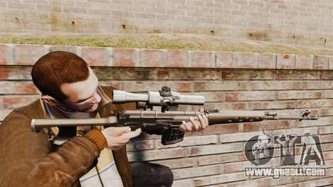 Dragunov sniper rifle v2 for GTA 4