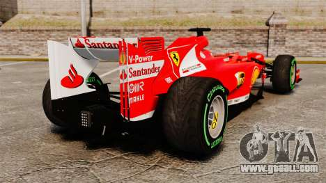 Ferrari F138 2013 v3 for GTA 4 back left view