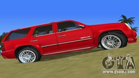 Cadillac Escalade for GTA Vice City left view