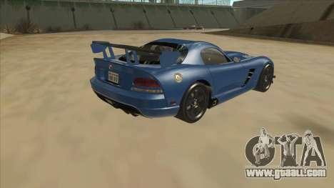 Dodge Viper SRT-10 ACR TT Black Revel for GTA San Andreas right view