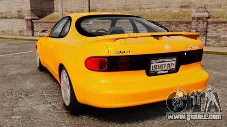 Toyota Celica ST185 GT4 for GTA 4 back left view
