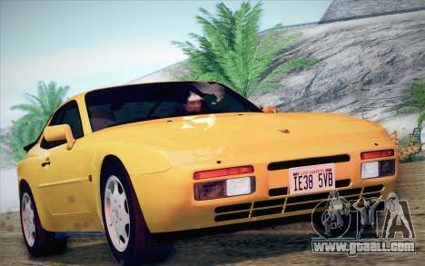 Porsche 944 Turbo Coupe 1985 for GTA San Andreas back left view