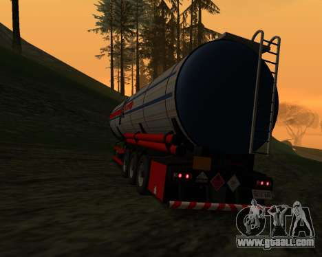 Semitrailer Container Xoomer for GTA San Andreas left view