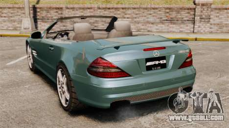 Mercedes-Benz SL65 2007 AMG v1.2 for GTA 4 back left view