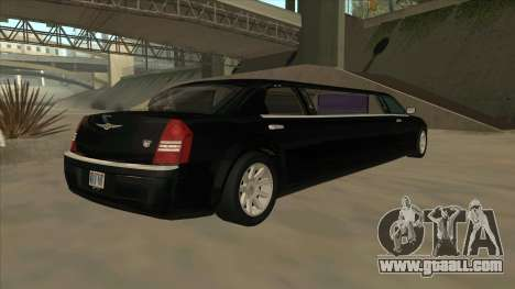 Chrysler 300C Limo 2006 for GTA San Andreas back left view