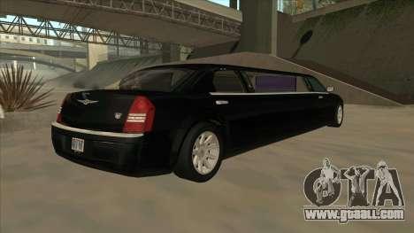 Chrysler 300C Limo 2006 for GTA San Andreas back left view