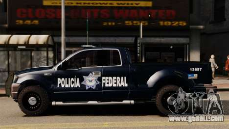 Ford F-150 De La Policia Federal [ELS & EPM] v2 for GTA 4 left view